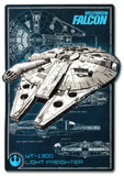 Millennium Falcon - Blueprint Tin Sign