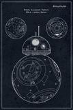 BB-8 - Blueprint Tin Sign