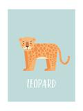 Luipaard Poster van  Kindred Sol Collective