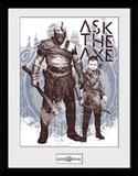 God of War - Ask the Axe Reproduction encadrée pour collectionneurs