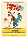 Cabin In The Sky - Starring Ethel Waters, Eddie (Rochester) Anderson and Lena Horne - Musical 高品質プリント : Albert Hirschfeld