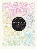 Grand Taxonomy of Rap Names Póster