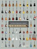 A Visual Compendium of Guitars Poster