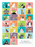 The Alphabet of Animal Professions Julisteet
