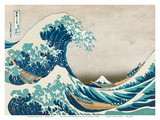The Great Wave off Kanagawa - Mount Fuji Arte por  Hokusai