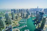 High view of Dubai Marina, Dubai, United Arab Emirates, Middle East Photographic Print by Fraser Hall