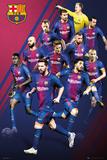 Barcelona - Players 2017-2018 Poster