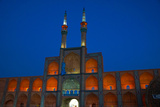 Amir Chakhmagh Complex floodlit, Yazd, Iran, Middle East Photographic Print by James Strachan
