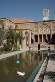 Courtyard of 19th century mansion called Khan-e Boroujerdi, Kashan, Iran, Middle East Photographic Print by James Strachan