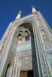 Facade and minarets, Jameh Mosque, Yazd, Iran, Middle East Photographic Print by James Strachan