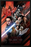 Star Wars: Episode VIII- The Last Jedi - Red Montage Posters