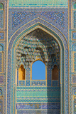 Facade detail, Jameh Mosque, Yazd, Iran, Middle East Photographic Print by James Strachan