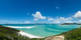 A panoramic view of the world-famous Whitehaven Beach on Whitsunday Island, Queensland, Australia Fotografisk trykk av Logan Brown