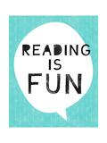 Reading Is Fun Affiche par Linda Woods