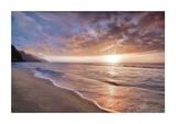 Kee Beach Sunset Giclee-trykk av Dennis Frates