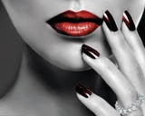Red Lips and Nails Fotografia