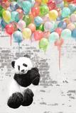 Panda Balloons Poster