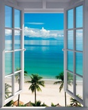 Beach Window Prints