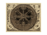 Sepia Planetary Chart Posters