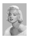 True Blue Marilyn Premium Giclee Print