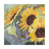 Sunflowers in Watercolor I Poster