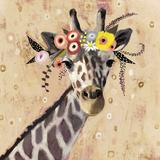 Klimt Giraffe II Lámina giclée prémium