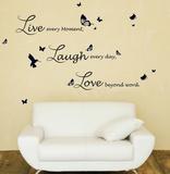 Live Laugh Love Quote Family Adesivo de parede