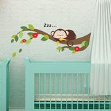 Sleeping Monkey Cute Kid Adesivo de parede