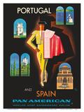 Portugal and Spain by Clipper - Matador - Pan American World Airways Stampa di Jean Carlu