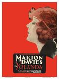 Yolanda - Starring Marion Davies, Lyn Harding and Holbrook Blinn Poster por  Pacifica Island Art