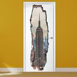 3D Empire Tower Door Adesivo de parede