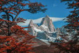 South America, Patagonia, Argentina, El Chalten, Mount Fitz Roy in Los Glaciares National Park Photographic Print by Christian Heeb