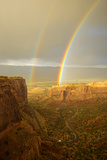 USA, Colorado, Mesa County, Double rainbow in the Colorado National Monument Photographic Print by Christian Heeb