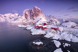 The fishing village Hamnoy, Nordland,Lofoten Islands, Norway, Europe Impressão fotográfica por  ClickAlps