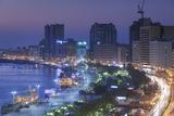 UAE, Dubai, Deira, elevated view of Dubai Creek, dusk Reproduction photographique par Walter Bibikw