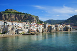 Traditional fishing boats and fishermens houses, Cefalu, Sicily, Italy, Europe Photographic Print by Marco Simoni