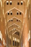 Qatar, Doha, Souq Waqif, redeveloped bazaar area, building detail Reproduction photographique par Walter Bibikw