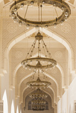 Qatar, Doha, Abdul Wahhab Mosque, The State Mosque of Qatar, courtyard walkway Reproduction photographique par Walter Bibikw