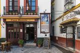 Tapas restaurant in the primary tourist neighborhood of Santa Cruz in Seville, Andalusia, Spain Photographic Print by Stefano Politi Markovina