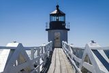 USA, Maine, Port Clyde, Marshall Point Lighthouse Reproduction photographique par Walter Bibikw