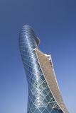 UAE, Abu Dhabi, Al Safarat Embassy Area, Capital Gate Tower Reproduction photographique par Walter Bibikw