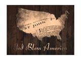 Dio benedica l'America Stampe di Sheldon Lewis