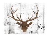 Brown Deer Head Lámina giclée prémium por  OnRei