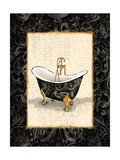 Black Gold Bath Premium Giclee Print by Jace Grey
