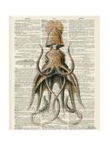 Squid 2 Giclée-Premiumdruck von Tina Carlson