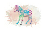 Zebra Poster by Victoria Brown