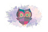 Owl Prints by Victoria Brown