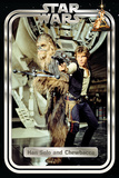 Star Wars Classic - Han and Chewie Retro Posters