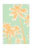 Retro Palms 1 Print by  THE Studio
