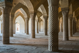 The 48 carved column prayer hall, Masjed-e Vakil (Regent's Mosque), Shiraz, Iran, Middle East Photographic Print by James Strachan